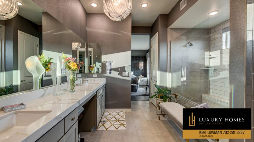 bath area at Trilogy at Summerlin Luxury Home, 4300 Veraz St