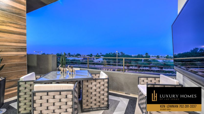 balcony view at Trilogy at Summerlin Luxury Home, 4300 Veraz St