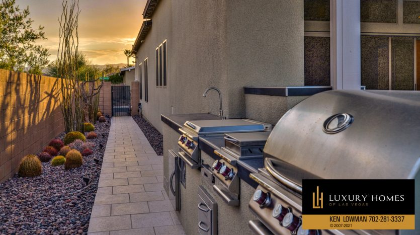 outdoor BBQ at Las Vegas Luxury Home, 8306 Mojave Creek Court, Las Vegas