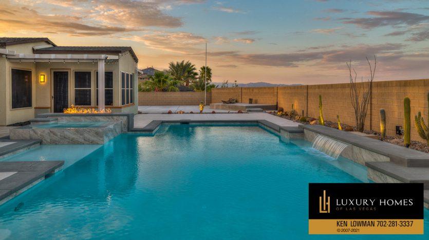 pool at Las Vegas Luxury Home, 8306 Mojave Creek Court, Las Vegas