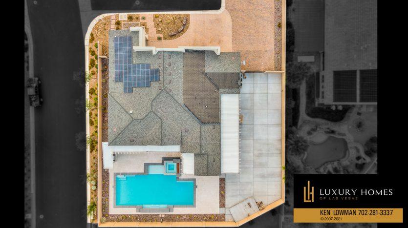 drone view of Las Vegas Luxury Home, 8306 Mojave Creek Court, Las Vegas