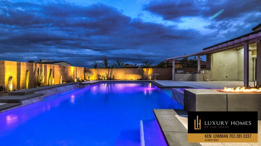 pool view at Las Vegas Luxury Home, 8306 Mojave Creek Court, Las Vegas