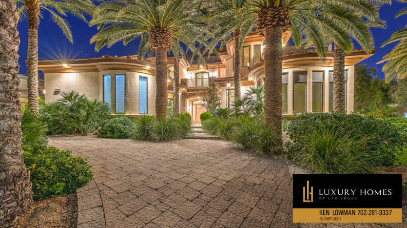 entrance area of Seven Hills Luxury Home for sale, 1535 Teramo, Henderson, NV 89052