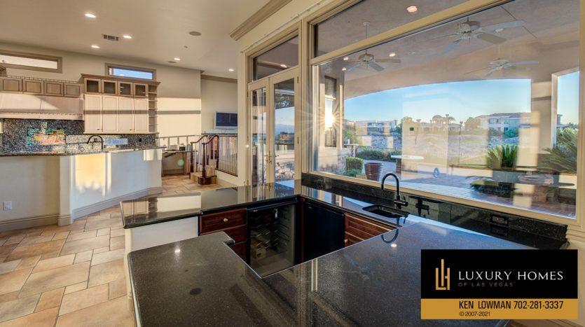 kitchen area at Seven Hills Luxury Home for sale, 1535 Teramo, Henderson, NV 89052