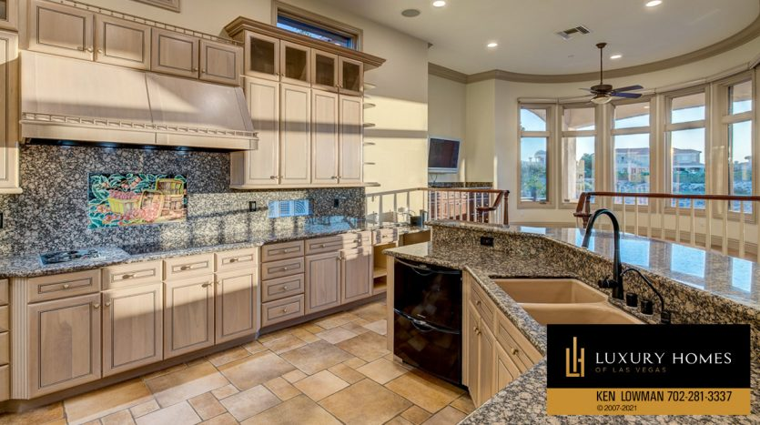 kitchen counter tops at Seven Hills Luxury Home for sale, 1535 Teramo, Henderson, NV 89052