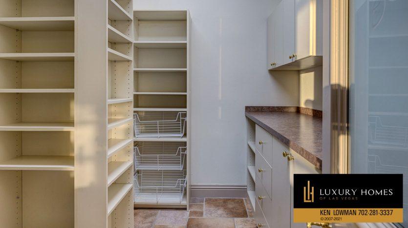 closet area at Seven Hills Luxury Home for sale, 1535 Teramo, Henderson, NV 89052