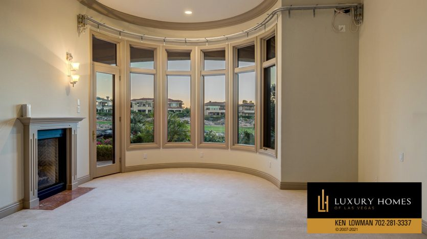room with fireplace at Seven Hills Luxury Home for sale, 1535 Teramo, Henderson, NV 89052