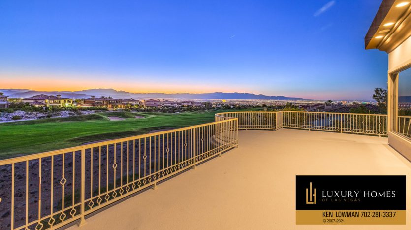 outdoor balcony view at Seven Hills Luxury Home for sale, 1535 Teramo, Henderson, NV 89052