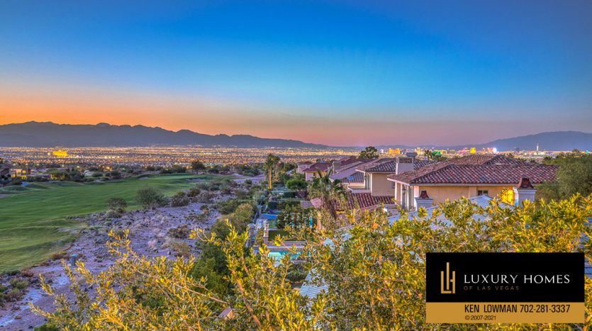 mountain view at Seven Hills Luxury Home for sale, 1535 Teramo, Henderson, NV 89052