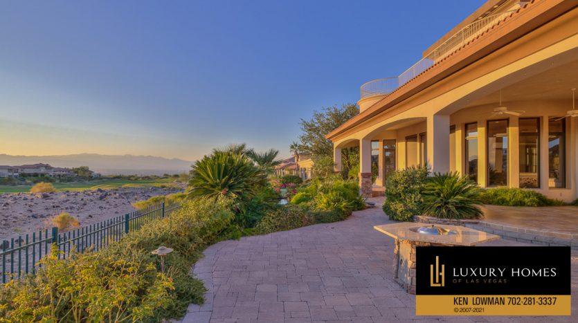 backyard at Seven Hills Luxury Home for sale, 1535 Teramo, Henderson, NV 89052