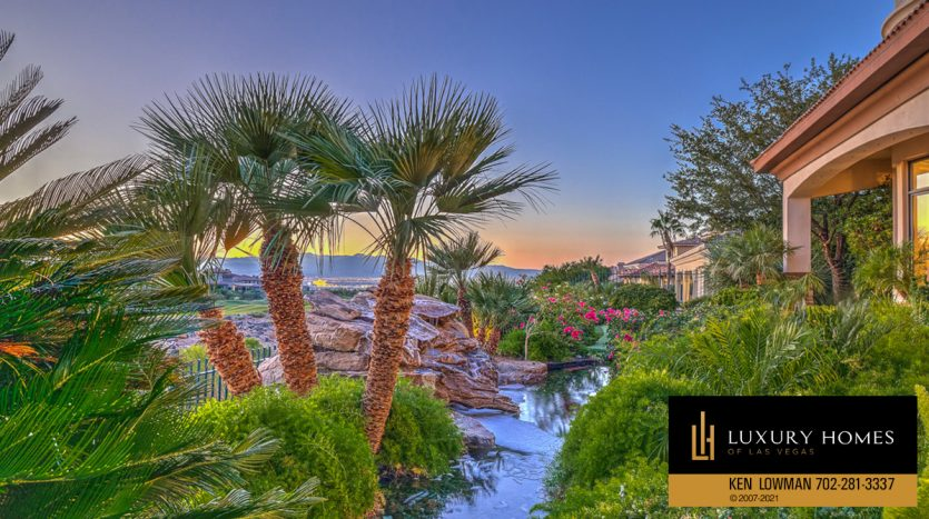 natural pond at Seven Hills Luxury Home for sale, 1535 Teramo, Henderson, NV 89052