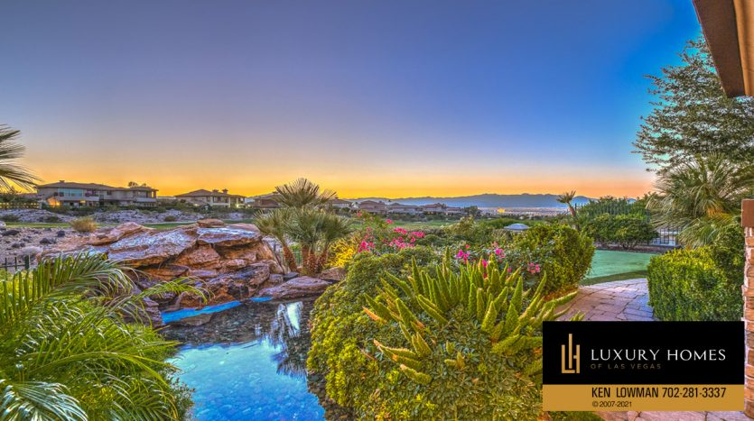 pond view at Seven Hills Luxury Home for sale, 1535 Teramo, Henderson, NV 89052