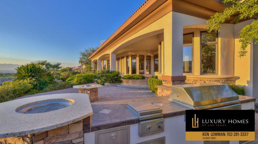 BBQ area at Seven Hills Luxury Home for sale, 1535 Teramo, Henderson, NV 89052